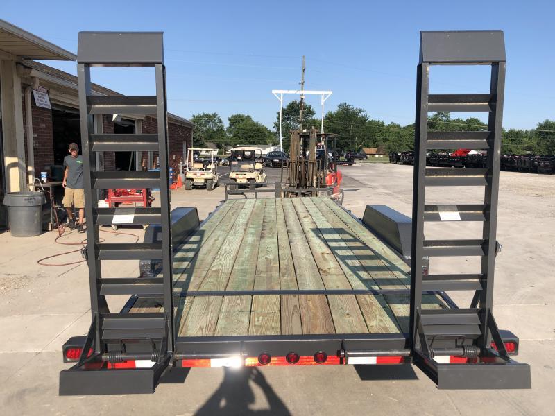 2019 83x22 (20+2) TA Load Trail CH8322072 Car / Racing Trailer - Fold Up Ramps - D-Rings (GVW:  14000)