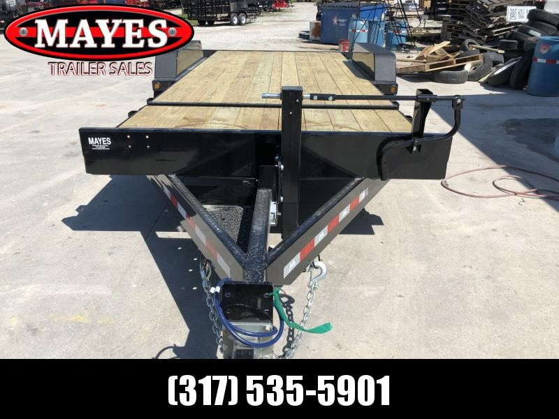 2020 20 Foot (4+16) TA Tilt B-B TBCT2016ET Equipment Trailer - D-Rings - Torflex Axles - Side Mounted Hyd. Control Valve - Pallet Fork Holders (GVW:  16000)
