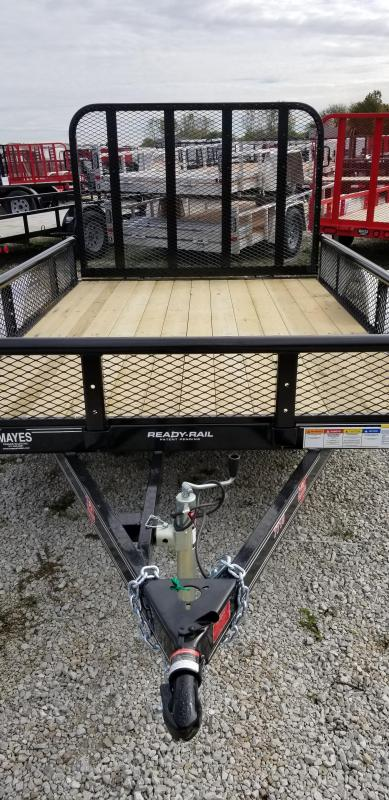 "2019 77x10 PJ Trailers U2 77"" Sngl Axle Channel Utility Trailer - w/ 4' Fold-up Gate (GVW: 2995) *Pipetop w/ 12"" Mesh Sides*"