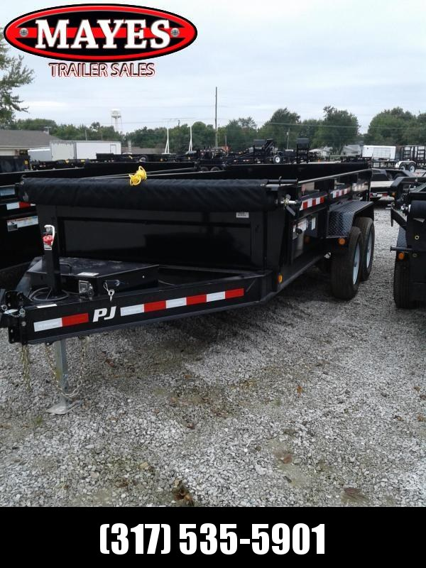 2019 83x14 Low Pro PJ Trailers DL142 Dump Trailer - Tarp Kit (GVW:  14000)