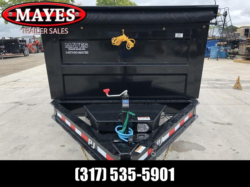 2020 83x14 TA PJ Trailers DM142 Dump Trailer - Split/Spread Gate - Tarp Kit - 6 Inch Cylinder Upgrade (GVW:  14000)