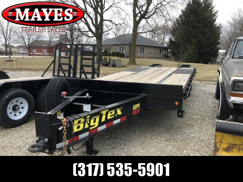 2019 102x25(20+5' Dovetail) Big Tex Trailers 22PH USED Flatbed Trailer - w/ Flip-over Ramps (GVW: 23900)