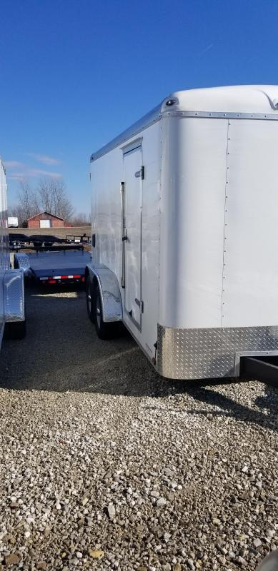 2019 7x14 Cargo Mate BL714TA3 Enclosed Cargo Trailer - Double Door with Dual Cambars (GVW:  9800)