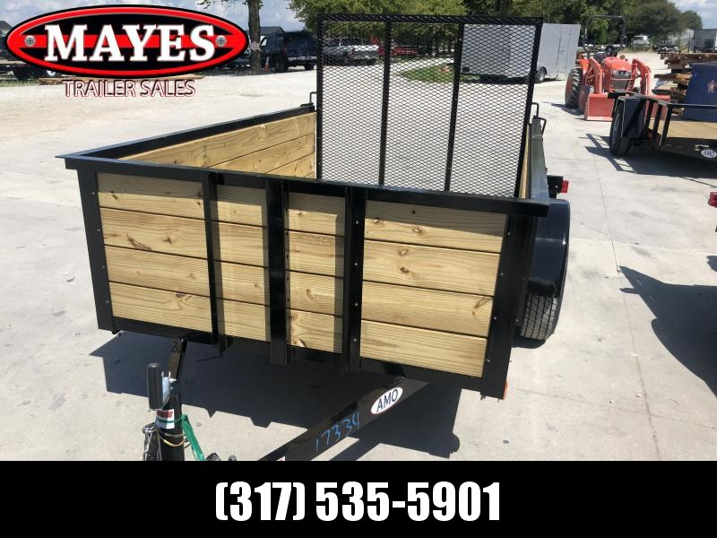2020 5x8 SA American Manufacturing Operations (AMO) US081 Utility Trailer - High Sides - Tailgate (GVW:  2990)
