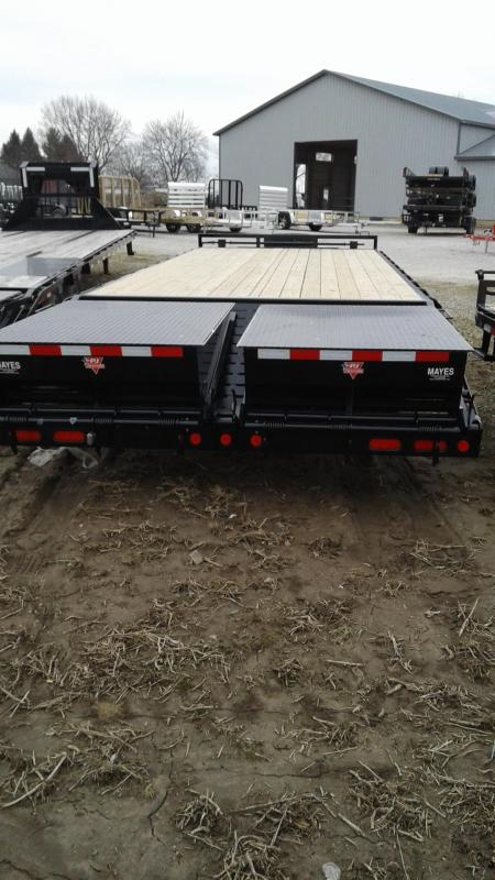 2019 102x25(20+5) PJ Trailers FS252 Trailer - w/ 2 Flip-over Monster Ramps (GVW:  16000) *Pintle*