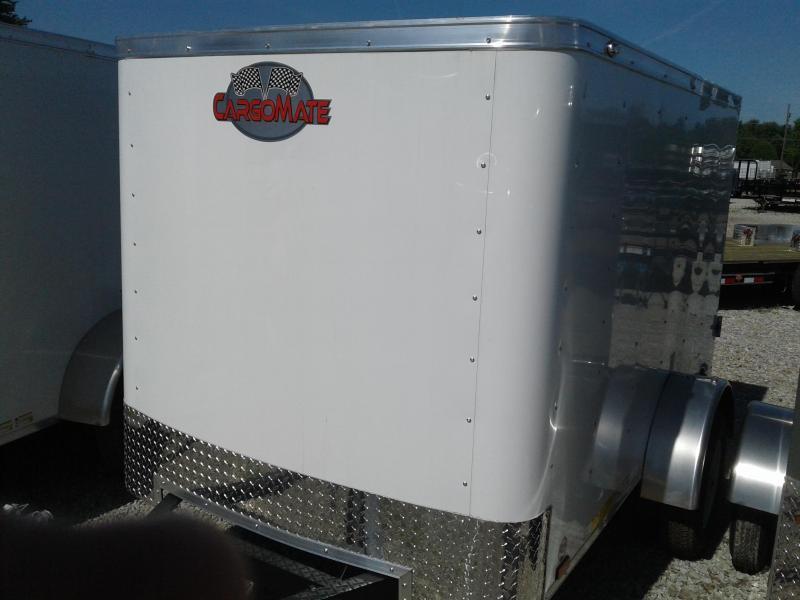 2019 5x8 Cargo Mate SS58SA Enclosed Cargo Trailer - Polar White (Rear Swing Door)(GVW: 2000)