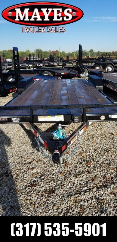 2019 83x20(18+2' Dovetail) PJ Trailers C5 Car / Racing Trailer - w/ 5' Rear Slide-in Ramps (GVW: 7000)