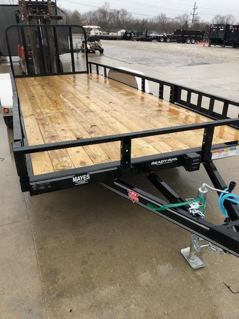 2019 83x20 (18+2) PJ Trailers UL202 Utility Trailer - Tailgate - ATV Ramps (GVW:  7000)