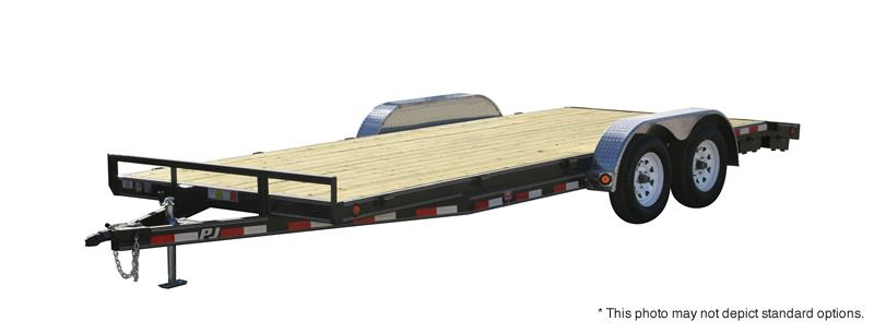 "2020 83X22' (20+2) PJ Trailers 22' x 5"" Channel Carhauler Trailer - Tailgate - 2"" Pipetop Removable Siderails (GVW:  7000)"