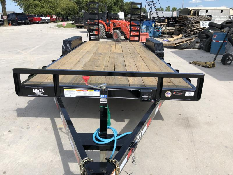 2020 20 Foot (18+2) TA PJ Trailers CE202 Equipment Trailer - Fold Up Ramps (GVW:  9899)