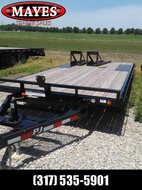 2019 96x20(17+3' Dovetail) PJ Trailers L6 Flatbed Trailer - w/ 5' Fold-up Ramps (GVW: 9899)