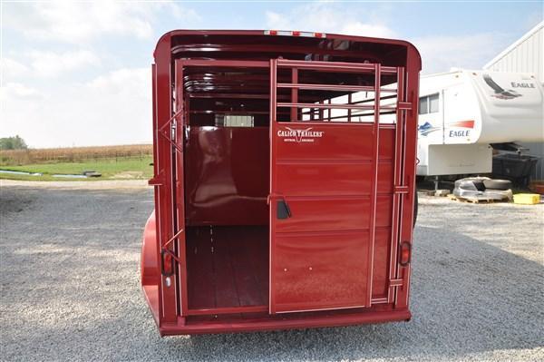 "Calico 6 x 6'6"" x 16 BP Livestock Trailer"