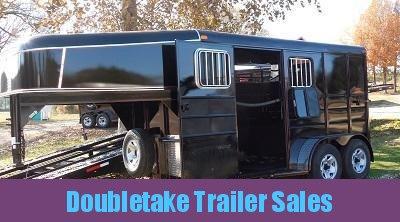 "Calico 6'8"" x 7 x 13 2H GN Slant Load Horse Trailer"