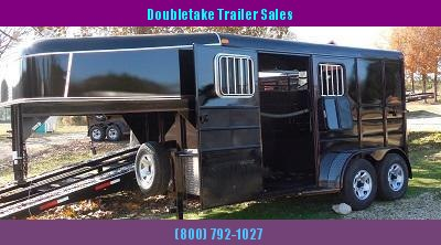 "Calico 6'8"" x 7 x 13 2H GN Slant Load Horse Trailer"