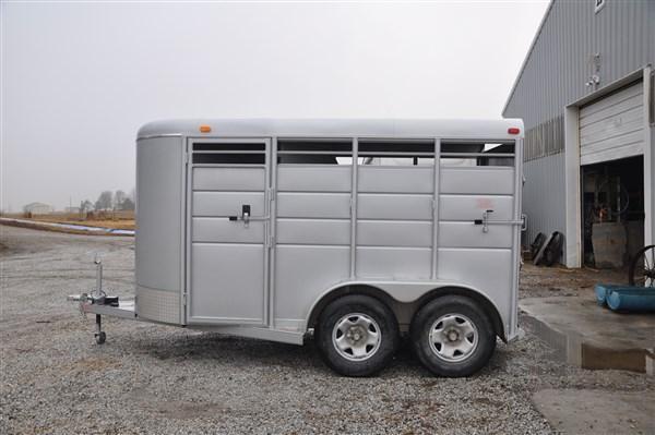 "Calico 6 x 6'6"" x 13 2H BP Slant Load Horse Trailer"