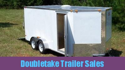 7 X 16 White V Nose Cargo Trailer