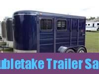 Calico 6 x 7 x 13 2H BP Slant Load Horse Trailer w/ Drop Down Windows
