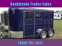Calico 6 x 7 x 13 2H BP Slant Load Horse Trailer w/ Drop Down Windows