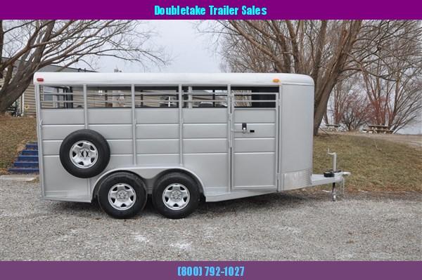 "Calico 6 x 6'8"" x 16 BP Livestock Trailer"