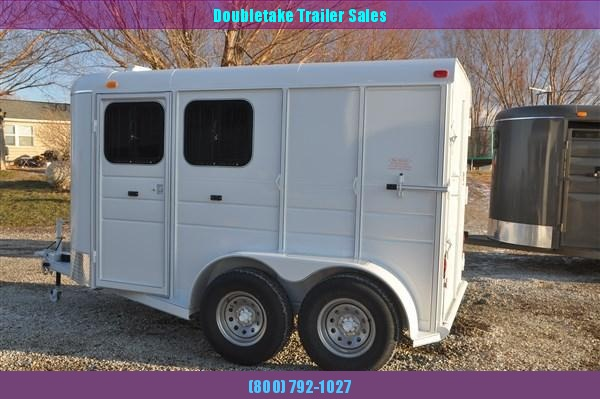 ENCLOSED BUMPER PULL 2 HORSE TRAILER