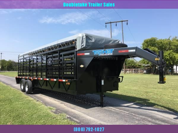 2019 Top Hat Trailers 68 X 24 BRAHMA GN Livestock Trailer