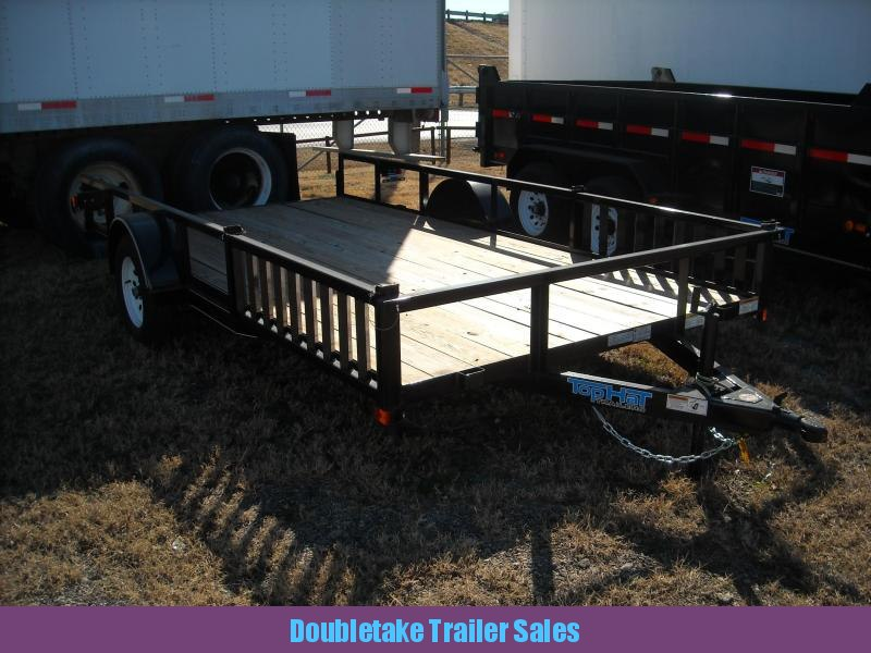 2018 Top Hat Trailers 12X83 QH Open ATV Trailer