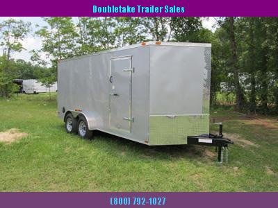 7 x 16 Sliver Frost V Nose Cargo Trailer with Stone guard