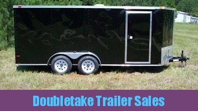 7 X 16 V Nose Black Cargo Trailer