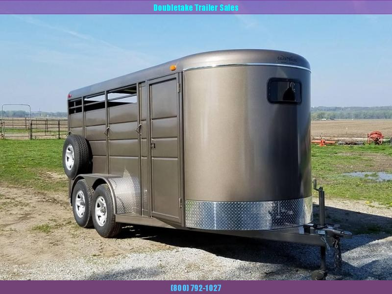 "Calico 6 x 6'6"" x 16 3H BP Slant Load Horse Trailer"