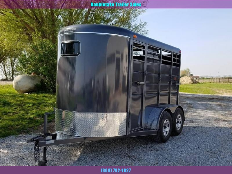 "Calico 6 x 6'6"" x 12 2H BP Slant Load Horse Trailer"