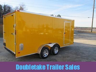 7 X 16 Yellow Cargo Trailer with Slant V