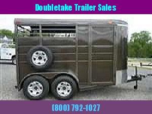 "Calico 6'8"" x 7 x 13 2H BP Slant Load Horse Trailer w/ Drop Down Windows"