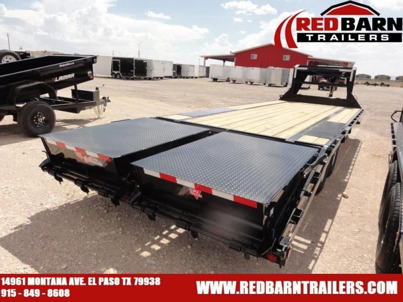 102 X 25 2020 PJ Trailers Low-Pro Flatdeck with Singles (LS) Flatbed Trailer @RED BARN TRAILERS