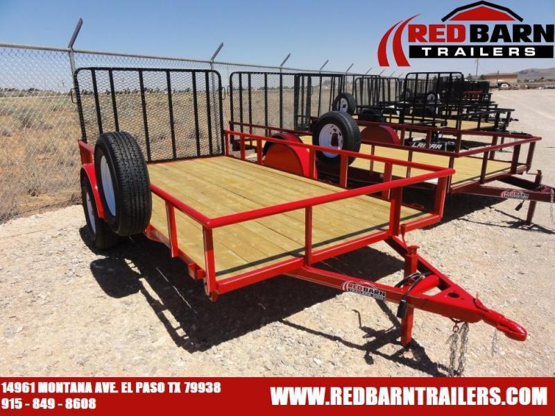 6.5 x 12 Single Axle Utility - Ramp Gate @ Red Barn Trailers