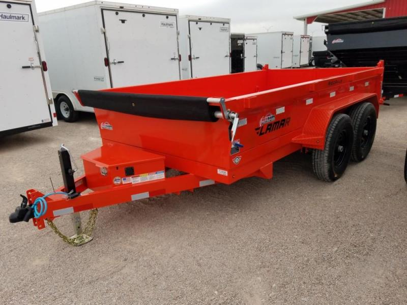 77 X 12 Medium Dump Trailer (DM) Dump Trailer @ RED BARN TRAILERS