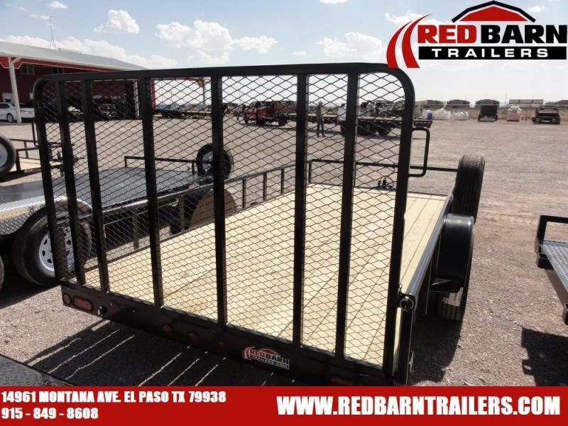 7 x 14 Single Axle Utility - Ramp Gate @ Red Barn Trailers