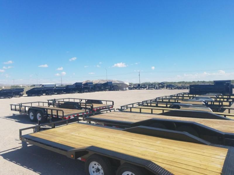 102x32 2019 PJ Trailers Low-Pro Flatdeck with Duals (LD) @ Red Barn Trailers