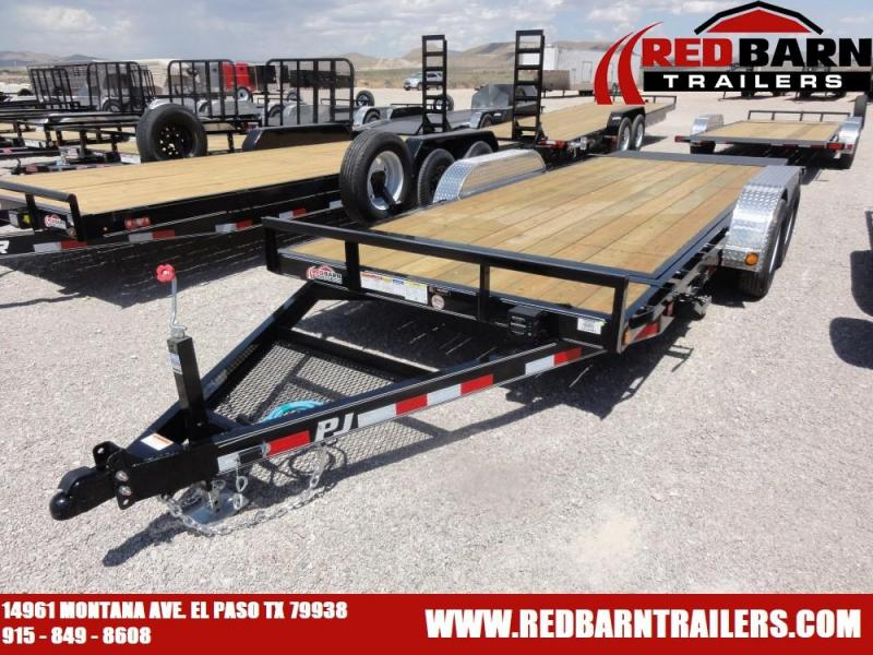 7 x 18 2020 PJ Trailers T5 Equipment Trailer @RED BARN TRAILERS