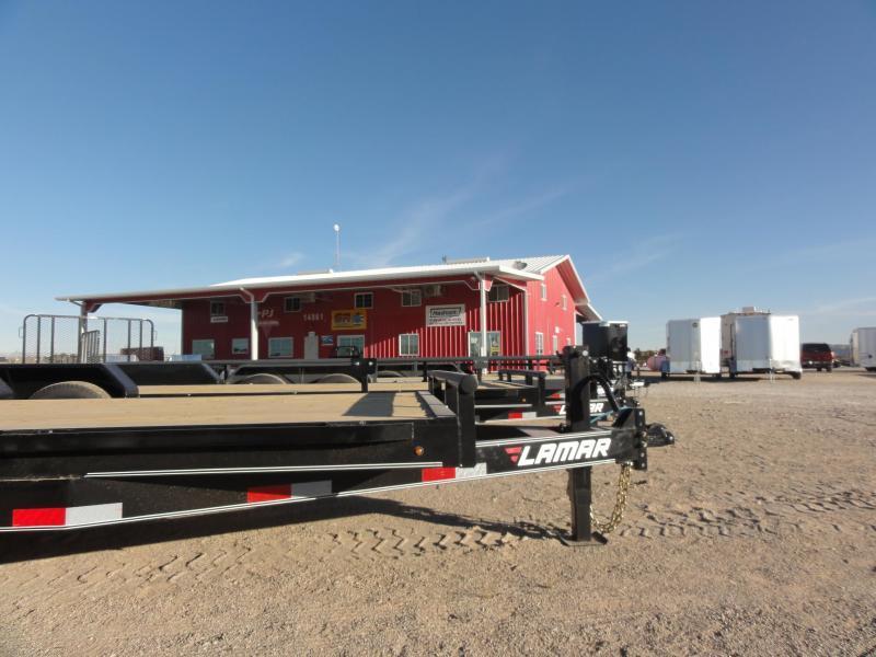 96 X 20 2020 PJ Trailers F8242 Flatbed Trailer @RED BARN TRAILERS