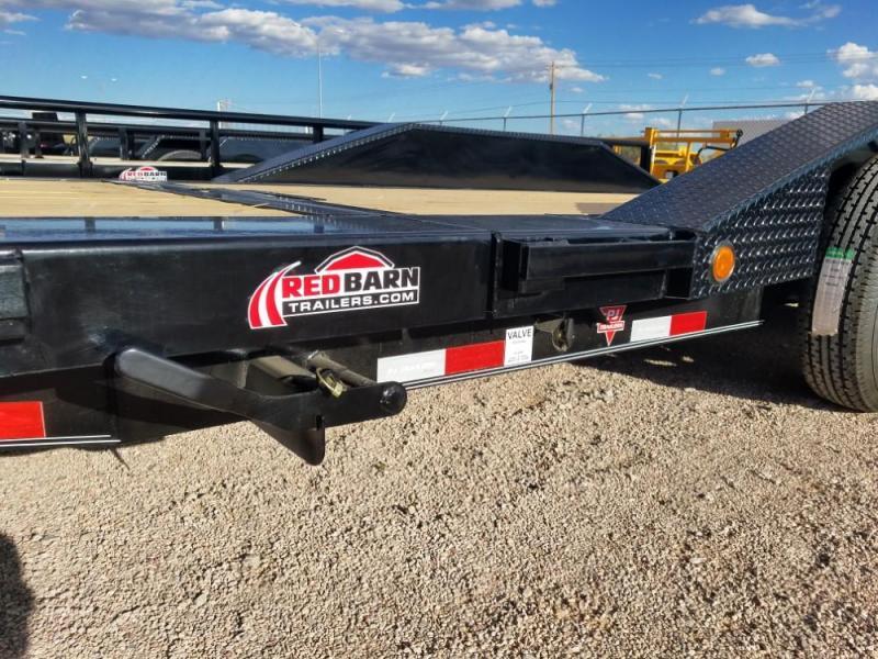 "102 X 20 6"" Channel Super-Wide Tilt (TS) Car / Racing Trailer @ Red Barn Trailers"