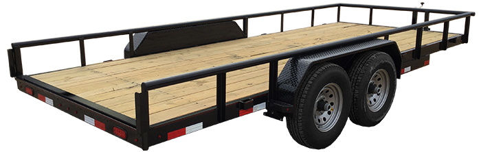 "83"" X 20 Heavy Duty Utility Trailer (U5) @ Red Barn Trailers"