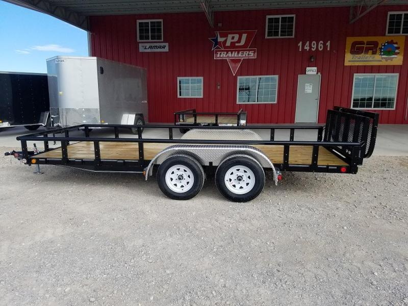 "77"" X 14' Channel Utility (U7) @ Red Barn Trailers"