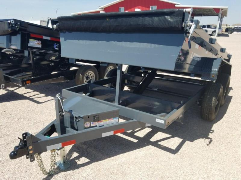 6.5 X 12 Medium Dump Trailer (DM) @ Red Barn Trailers
