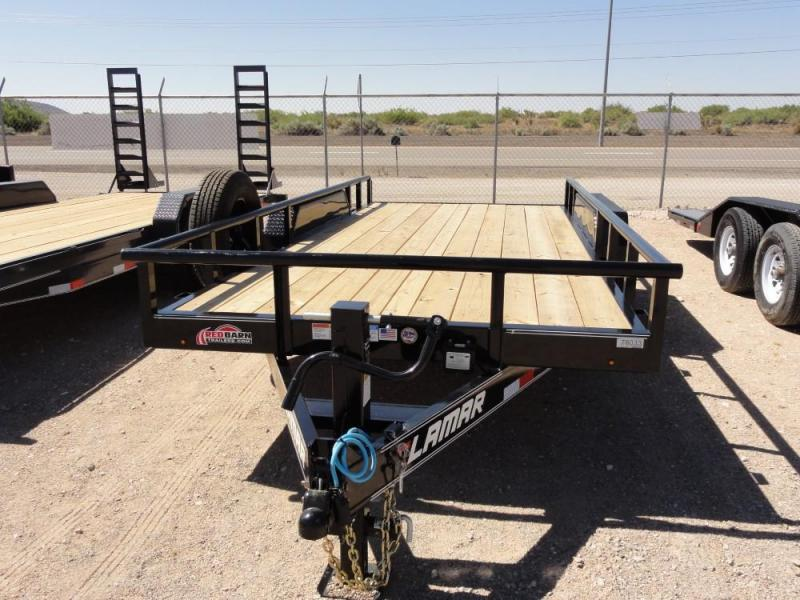 83 x 16 2019 Lamar Trailers U6202 Utility Trailer @RED BARN TRAILERS