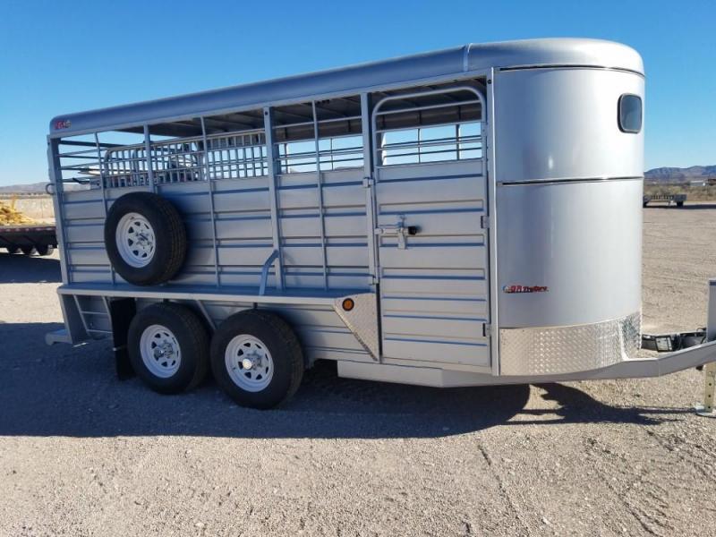 "6'8"" x 16 2019 GR Trailers ST6816W10LR Livestock Trailer @RedBarnTrailers"