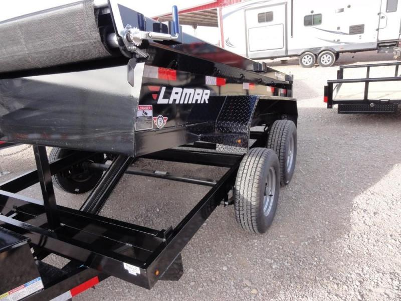 77 X 10 2019 Lamar Trailers Medium Dump (DM) 10K Dump Trailer @ RED BARN TRAILERS