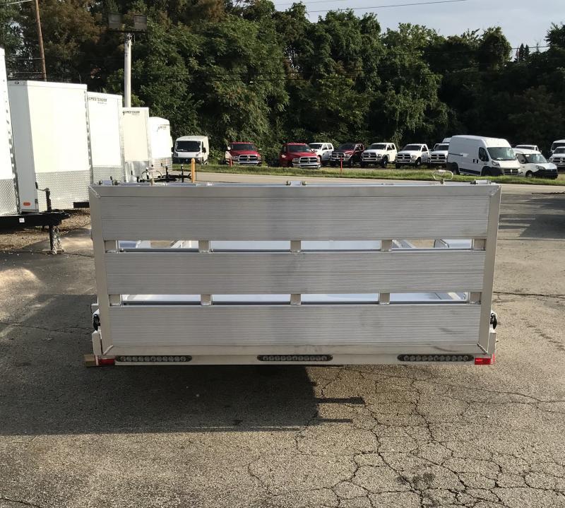 2018 American Hauler 77x12' Aluminum Utility Landscape Trailer 2990# GVW ALFA7712SA * TORSION * EXTRUDED FLOOR * BI-FOLD GATE * STABILIZER JACKS
