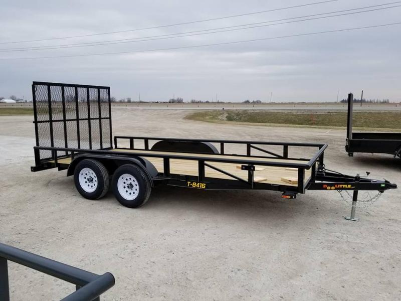 2018 Doolittle Trailer Mfg PT84x16 Tandem Axle Utility Trailer