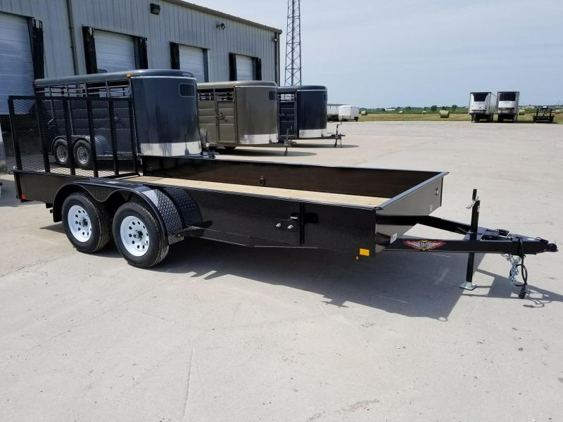 2018 H and H Trailer 82x16 Solid Side Tandem Axle Utility Trailer