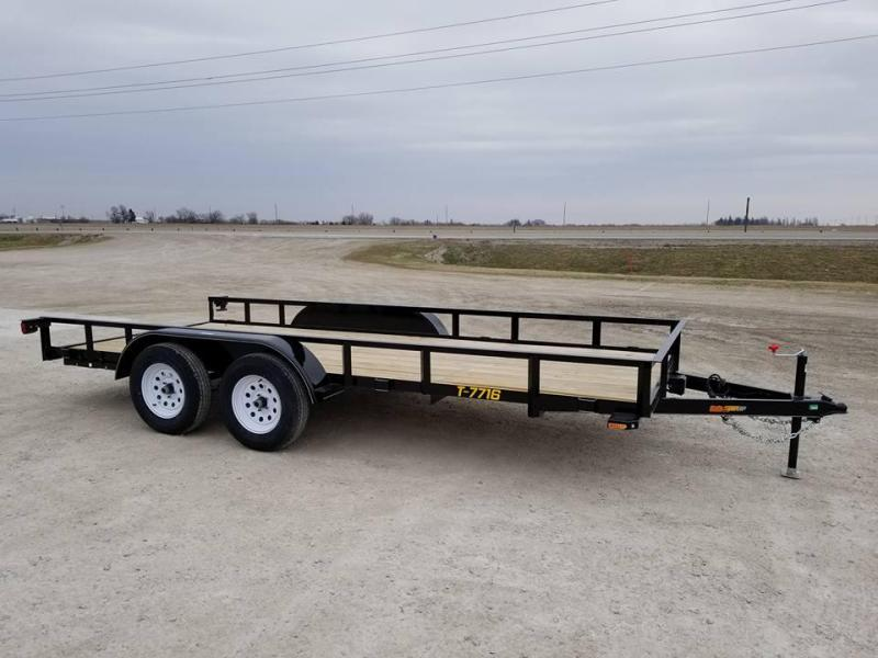 2018 Doolittle Trailer Mfg 77x16 Rally Sport Utility Trailer